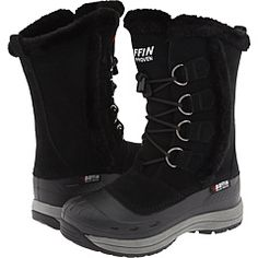 Baffin Chloe (Black) Women's Cold Weather Boots Cold Weather Boots, Winter Boots, Baffin Boots, Wide Calf Boots, Snow Boots Women, Waterproof Boots, Lace Up Boots, Chloe, Shoe Bag