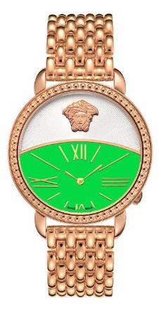 Versace Women's 93Q80D220C S080 Krios Green Dial IP Rose-Gold Bracelet Watch | Your #1 Source for Watches and Accessories