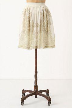 Dried Larkspur Skirt #anthropologie