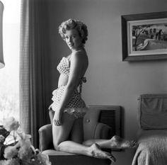 Marilyn in Polka dot bikini