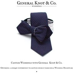 At General Knot we've mastered the art of custom designed Neckties, Bow Ties, Pocket Squares, and just about anything you need for your wedding!