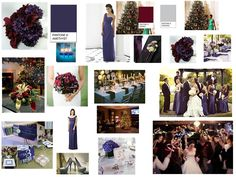 Amethyst with burgundy and silver accents : PANTONE WEDDING Styleboard : The Dessy Group