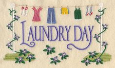 Laundry Day Sampler design (A3692) from www.Emblibrary.com