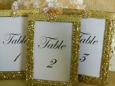 Weddings Wedding Table Numbers Table Number Holders by KPGDesigns, $85.95