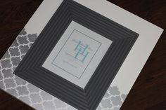 Wood frame with metallic silver and white by HiggiHouse