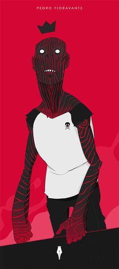 Blood Zombie Illustration.