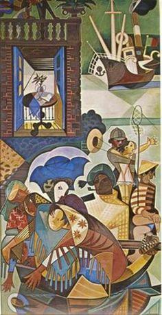 Domingo Lisboeta  ..., ,. JOSE de ALMADA-NEGREIROS..., ,,,..4/7/1893--6/15/1970... Portugues