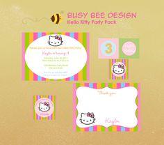 Hello Kitty birthday pack printables