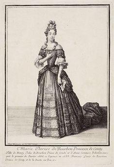 """""""Marie-Thérèse de Bourbon, princesse de Conti"""", Henri Bonnart, ca. 1695; Musée de l'Ile-de-France 2003.7.14"""