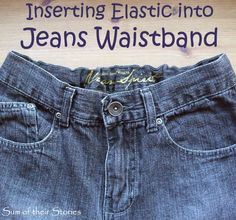 How to insert Elastic into Jeans Waistband