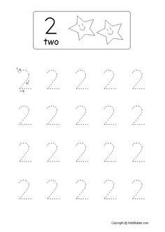 Werkblad rekenen: cijfer 2