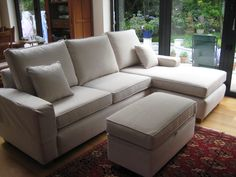 Bespoke sofa chaise & clutterbox based on the Maltby Curved sofa!  we used J Brown Harley 26 – white.