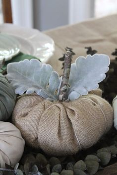 Step by step DIY to make no-sew burlap pumpkins for the fall. An easy and inexpensive craft to add to your fall farmhouse decor.