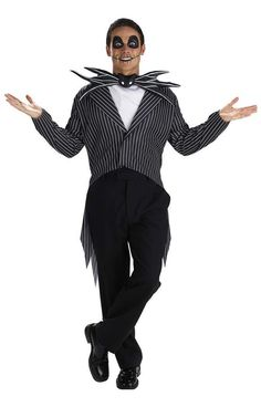 Just out A Nightmare Before mas Jack Skellington Adult Costume. Finest Ideas of Nightmare Before Christmas Costumes at PartyBell. Disney Halloween, Scary Halloween Costumes, Halloween Fancy Dress, Christmas Costumes, Adult Halloween, Halloween Town, Halloween Ideas, Halloween 2018, Halloween Jack