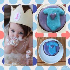 Cupcake decorado con fondant de malvaviscos para babyshower, mameluco