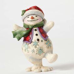 Walking In Wonderland-Pint Sized Walking Snowman Figurine
