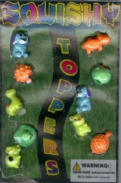 1.1 Squishy Toppers Refill Acorn Vending Capsules 250 ct