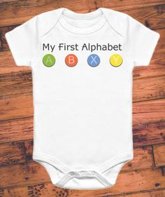 Xbox parents are going to love this gamer onesie. This funny onesie is great for die-hard Halo fans and makes a hilarious gag gift for Playstation diehards, too! #ParentingIsHard