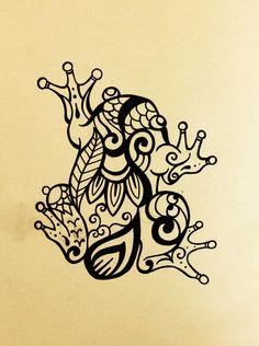カエル トライバル タトゥー デザイン frog tribal tattoo design