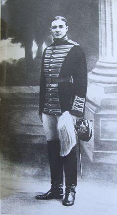 Dmitri Malama, who was fond of Tatiana, looking very fine in uniform.