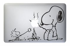 "Snoopy Dog - Apple Macbook Laptop Decal Sticker Vinyl Mac Pro Air Retina 13"" 15"" 17"" Inch Skin Cover"