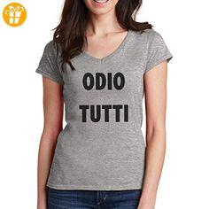 Odio Tutti XXL Damen V-Neck T-Shirt (*Partner-Link)