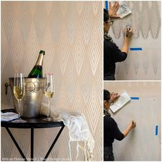 How to stencil fabulously easy stencil finishes with Royal Stencil Cremes from Royal Design Studio - Did you know that there is a special paint that is designed JUST for the sole purpose of making stenciling even faster, even easier, and even MORE beautiful??