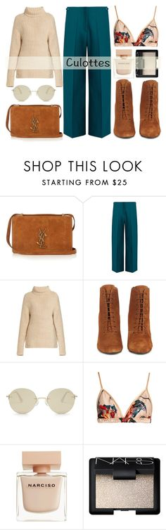"""""""Easy fashion: winter culottes"""" by alaria on Polyvore featuring Yves Saint Laurent, Maison Margiela, TIBI, Le Specs, Katie Eary, Narciso Rodriguez, NARS Cosmetics and culottes"""