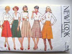 New Look Maudella 6030 Flared Skirt Vintage Sewing Pattern
