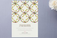 Quilted Wedding Announcements by Laura Hankins at minted.com