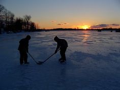 Pond hockey is a very popular wintertime activity in the Kennebec Valley region of Maine. The Maine Pond Hockey Classic will be held on China Lake.
