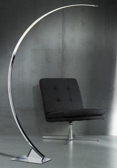 Wofi Arc chrome contemporary floor lamp