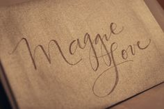 Fake Calligraphy Tutorial by leachlove.blogspot