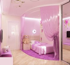 Traditional decoration design for a little princess bedroom