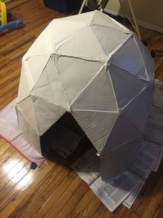 Cardboard Igloo & igloo play tent | place activity tent house kids play tent house ...