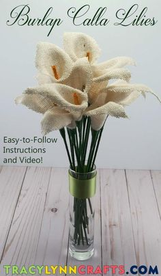 you can DIY these easy and beautiful burlap calla lilies | #diy #burlap #calla #lily #lilies #burlap_flowers