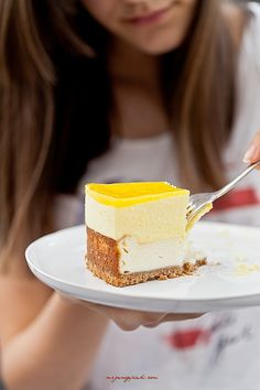 cheesecake with mango mousse.