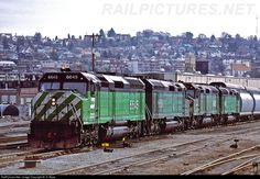 RailPictures.Net Photo: 6645 Burlington Northern Railroad EMD F45 at Seattle, Washington by M. S. Repp