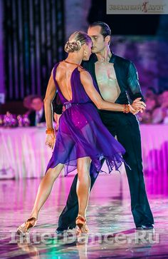 Riccardo and Yulia rumba.Absolutely love the color of this dress.
