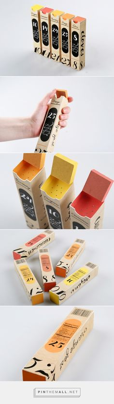 Spices 'Eco-friendly made of paper' Packaging Designed by Masha Barsukova