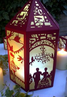 The Lantern Tree - personalised laser cut lanterns and stationery - Wedding Collections