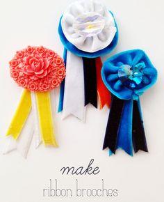 wise craft velvet ribbon brooch diy