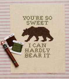 hardly bear cross stitch