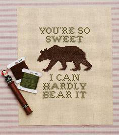 hardly bear cross stitch