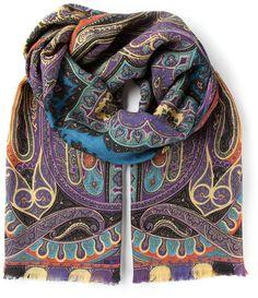 Etro paisley print scarf on shopstyle.com