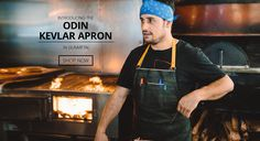 Bluecut Aprons - designer chef apparel handcrafted in LA for pro and home chefs