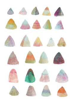 Perhaps the merging vectors could converge at the pinnacle of a 3D cone/mountain such as one of these