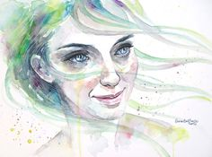 dear prudence by ericadalmaso - Watercolor Paintings by Erica Dal Maso