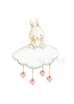 Kindergarten Menge quotBUNNY CLOUDquot Kunstdruck Kindergarten Illustration Kindergarten Menge quotBUNNY CLOUDquot Kunstdruck Kindergarten Illustration This image has get. Illustration Mignonne, Cute Illustration, Cute Images, Cute Pictures, Lapin Art, Art Mignon, Cloud Art, Bunny Art, Nursery Art