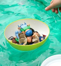 Sink and Float Preschool Science - create a boat